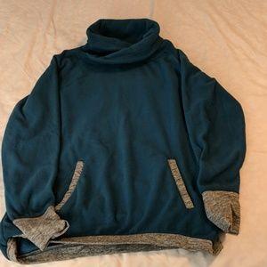 Blue/green Cowlneck Fleese Size M